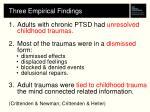 three empirical findings