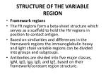 structure of the variable region1