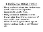 1 radioactive dating fossils
