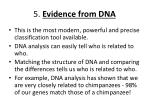 5 evidence from dna