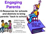 engaging parents