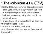 1 thessalonians 4 1 8 esv
