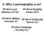 6 why is pornography a sin