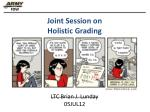 joint session on holistic grading1