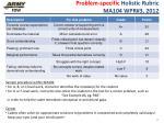 problem specific holistic rubric ma104 wpr 3 2012