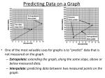 predicting data on a graph