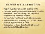 maternal mortality reduction
