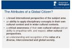 the attributes of a global citizen