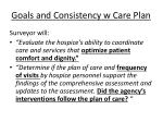 goals and consistency w care plan