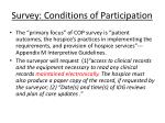 survey conditions of participation