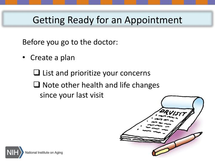 Getting Ready for an Appointment