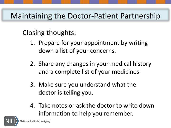 Maintaining the Doctor-Patient Partnership