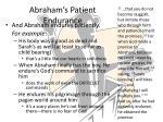 abraham s patient endurance
