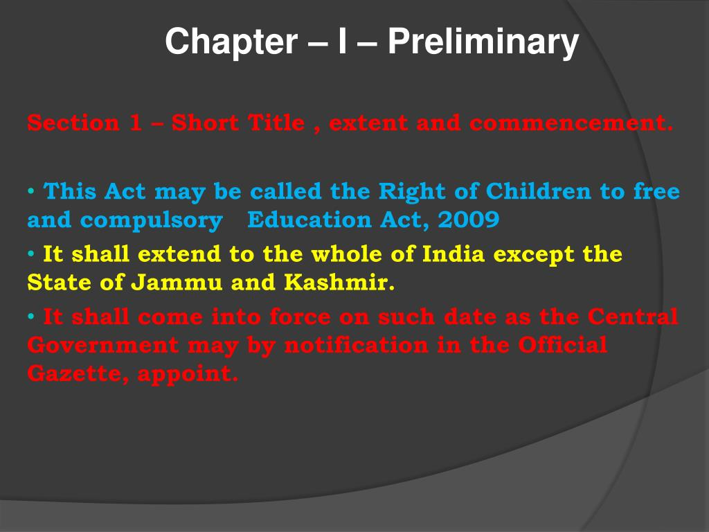 PPT - The Right of Children to Free and Compulsory Education