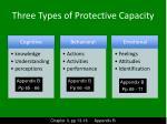 three types of protective capacity