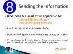 sending the information