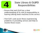 state library olbpd responsibilities