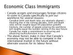 economic class immigrants