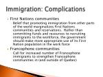 immigration complications