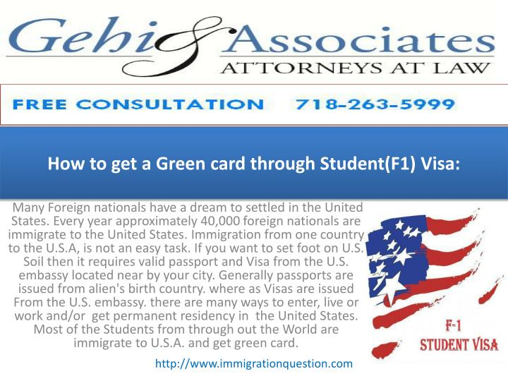 how to get a green card through student f1 visa n.