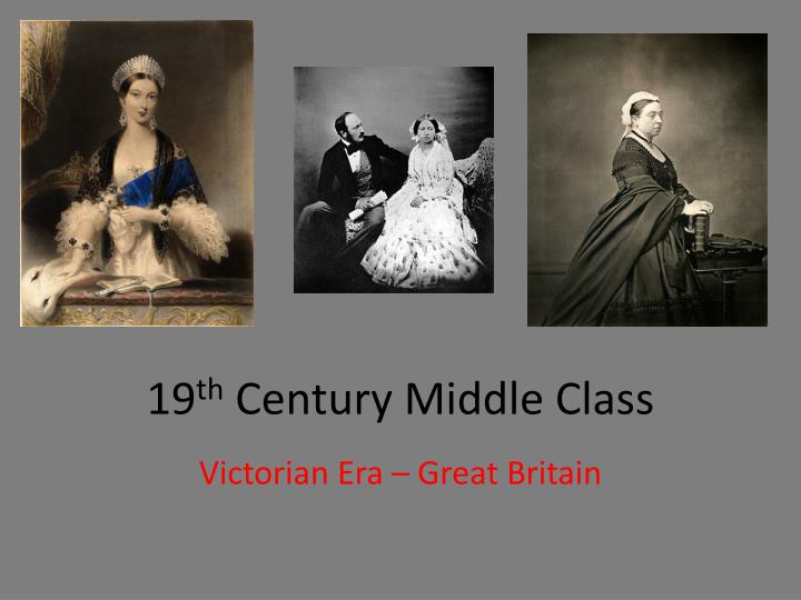 19 th century middle class n.