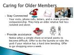 caring for older members