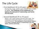 the life cycle4
