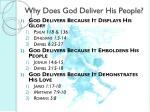 why does god deliver his people1