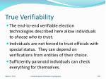 true verifiability
