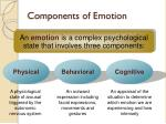 components of emotion
