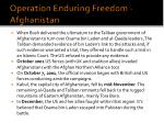 operation enduring freedom afghanistan