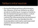 taliban s initial reaction