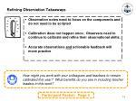 refining observation takeaways