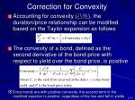 correction for convexity