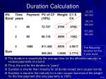 duration calculation