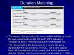 duration matching1