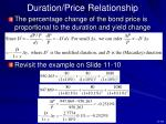 duration price relationship