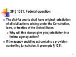 28 1331 federal question