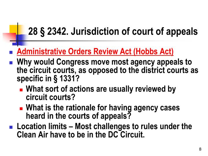 28 § 2342. Jurisdiction of court of appeals