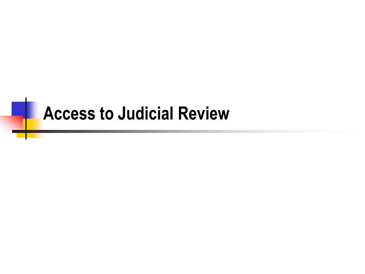 access to judicial review n.