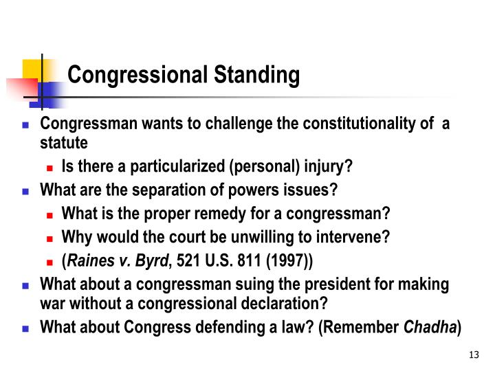 Congressional Standing