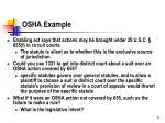 osha example