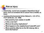 risk as injury