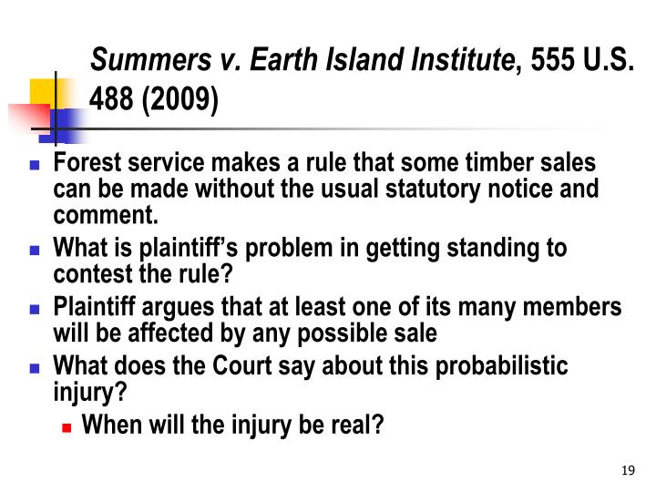 Summers v. Earth Island Institute