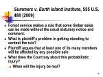 summers v earth island institute 555 u s 488 2009