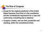 the role of congress