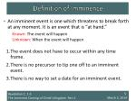 definition of imminence