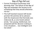 bay of pigs fall out