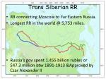 trans siberian rr