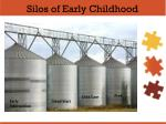 silos of early childhood